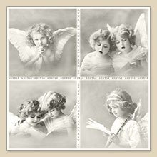 "Serwetka do decoupage ""4 Angels"""
