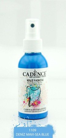 Farba do tkanin z atomizerem (morski - sea blue) - YOUR FASHION Spray Fabric Paint